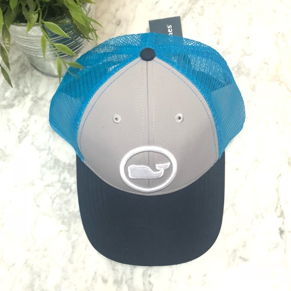 Vineyard Vines Whale Dot Performance Trucker Hat 80472176528f